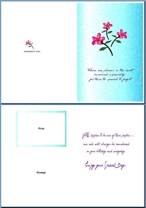 greetig card template word greeting card template invitation template