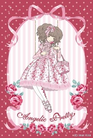 Angelic Dress Stripe angelic pretty dots dresses floral illustration imai