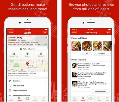 yelp app android travel applications groovy pink consulting