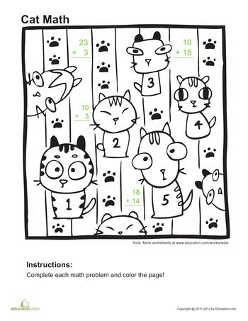 educational coloring pages for first graders addition coloring pages 1st grade education com