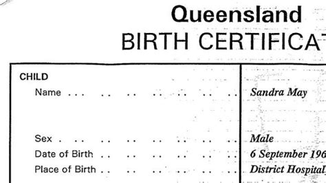full birth certificate qld woman sent birth certificate listing her as a man