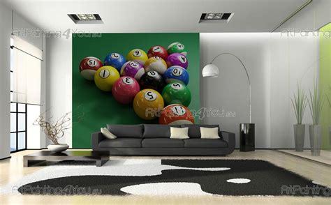 wall mural prints wall murals sport canvas prints posters billiard balls 1268en