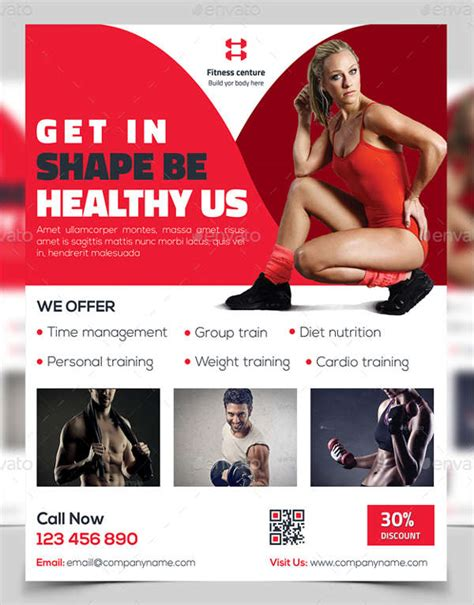 43 Printable Fitness Flyers Psd Eps Free Premium Templates Free Fitness Flyer Template Publisher