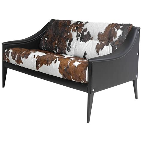 gio ponti quot dezza quot cowhide sofa by poltrona frau at 1stdibs