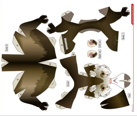 animal paper crafts templates ferret template paper craft templates
