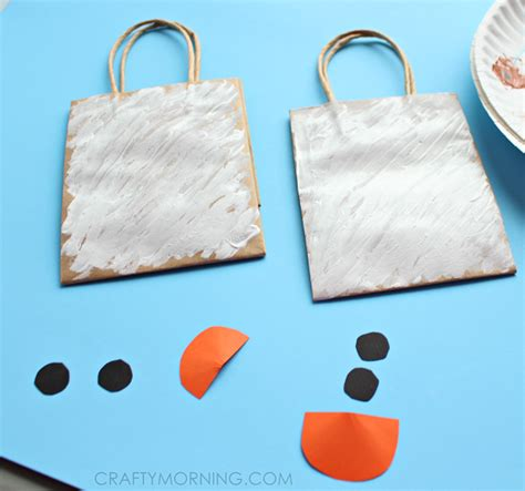 snowman gift bags for to make crafty morning