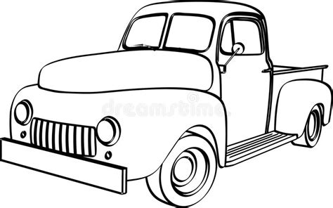 international christmas tree coloring page pickup truck stock illustration illustration of vintage