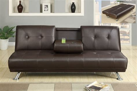 sofa bed with cup holder cup holder futon sofa bed arlington collection 300132