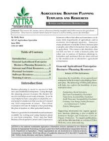 Agriculture Business Plan Template by Agricultural Business Planning Templates And Resources