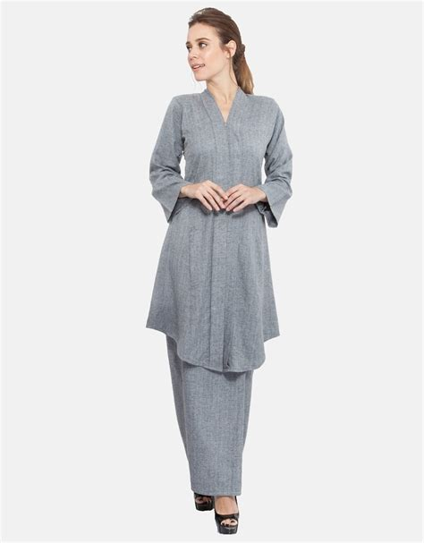 Kebaya Neng azila kebaya light grey neng geulis fashion