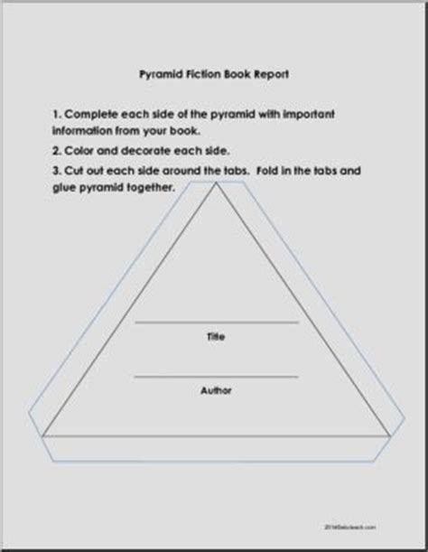 the pyramid book report pyramid book report book report forms fictional book