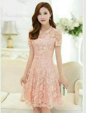 Dress Lenovela Dress Salem Dress Pesta Dress Brukat model baju mini dress brukat pendek wanita cantik terbaru desain pesta ala korea