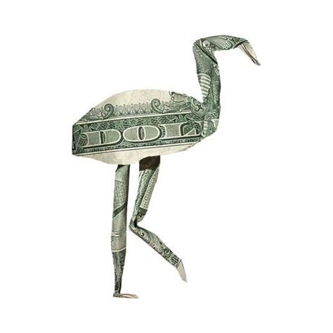 Cool Money Origami - money origami made from a one dollar bill note