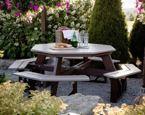 Polywood Picnic Table by Berlin Gardens Octagon Picnic Table From Dutchcrafters