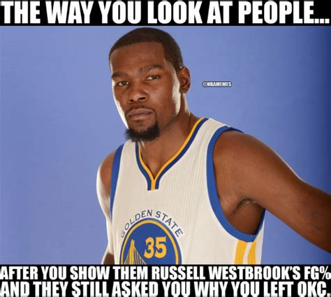 Okc Thunder Memes - kevin durant russell westbrook memes the best funny memes