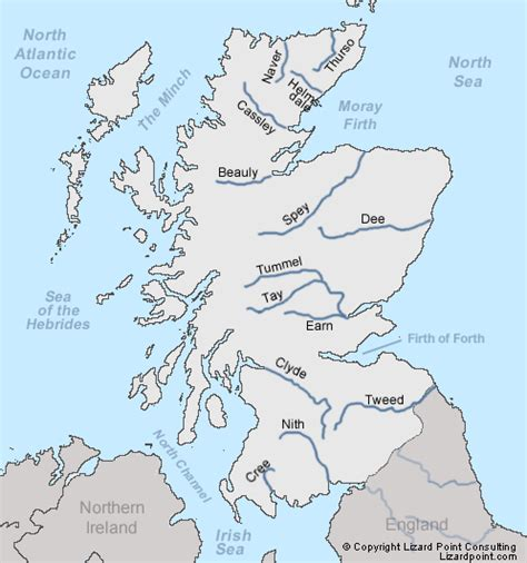 map of with rivers test your geography knowledge scotland rivers lizard point