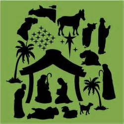 nativity silhouette template search results for simple nativity silhouette clip
