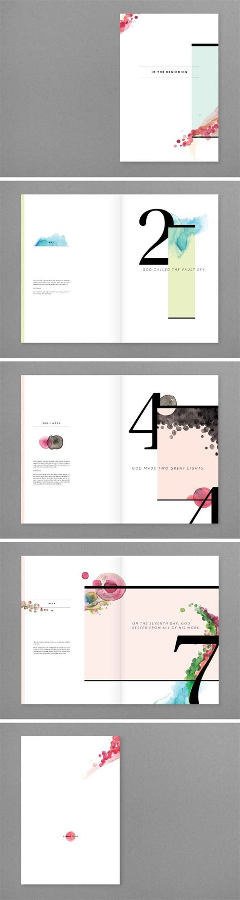 page layout design pinterest combination of water color and typography editorial