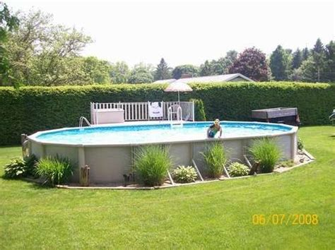 94 Best Images About Above Ground Pool Landscaping On Landscaping Around Above Ground Pool