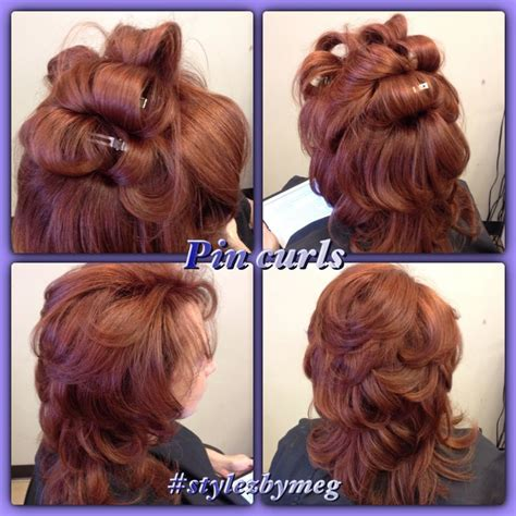 Drying Curly Hair With A Brush diy pin curls hair in sections as big as your
