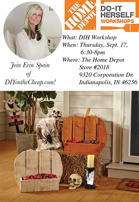 the home depot september dih workshop erin spain