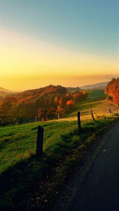 wallpaper android landscape countryside autumn landscape android wallpaper free download