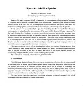 Presidential Speech Outline by Sle Caign Speech Exle Template 7 Free Documents In Pdf Word