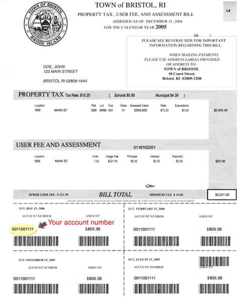 ri motor vehicle tax ri gov town of bristol tax payments