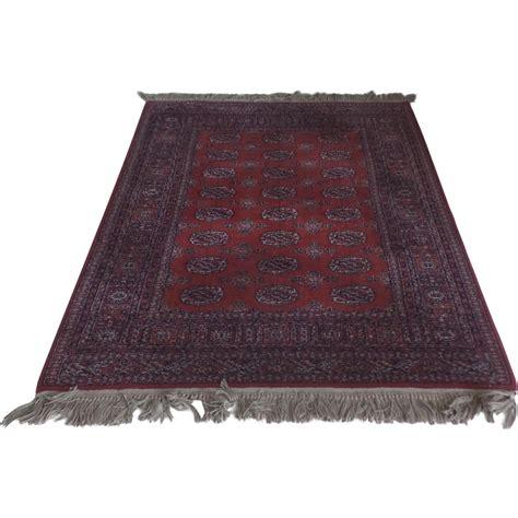 fringe rug vintage all wool karastan bokhara area rug fringe 4 3 by 6 from blacktulip on ruby