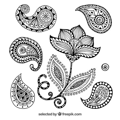 turkish pattern ai henna versieringen vector gratis download