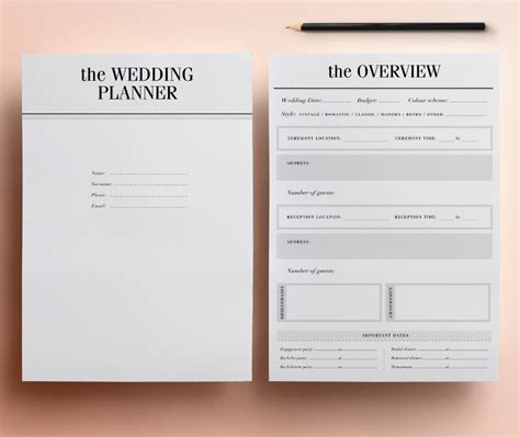 printable wedding planning kit wedding planner printable ultimate printable wedding