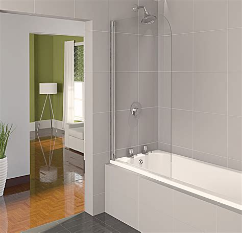 glass screens for bathrooms aqualux aqua 4 half frame bath screen polished silver