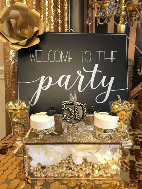 gold themes party 50th birthday table decorations thelt co