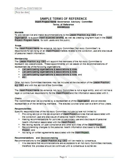 terms of reference template for consultant template for terms of reference business plan template