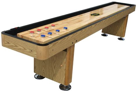 Quot The Standard Quot 9 Foot Shuffleboard Table In Oak Bar Shuffleboard Table