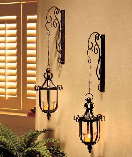 Wall Hanging Sconces New Scrollwork Wall Mounted Hanging Candle Lanterns Wall