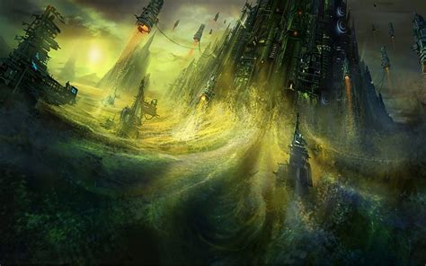 imagenes de paisajes ficticios tecnolog 237 a de edificios futuristas naves espaciales arte