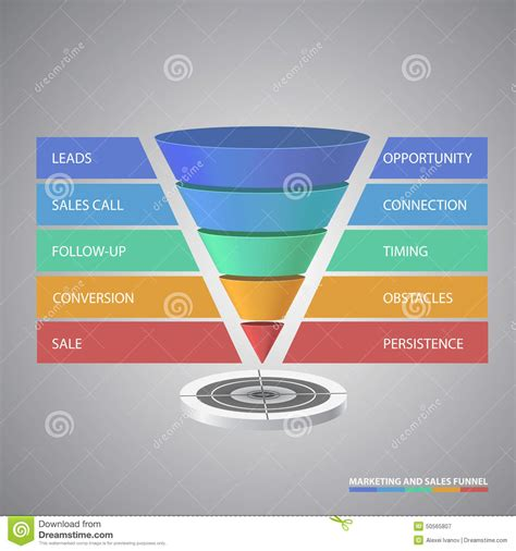 sales funnel template for your business stock vector