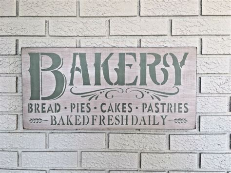 large rustic wood sign bakery kitchen decor fixer