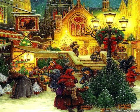 printable christmas village background old fashioned christmas wallpapers wallpaper cave