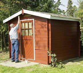Altes Gartenhaus Streichen by Arbeitsanleitung Altes Gartenhaus Neu Streichen