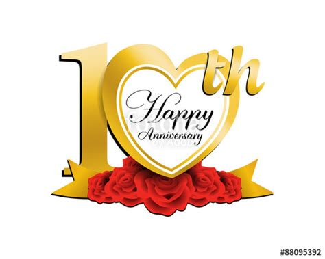 Wedding Anniversary 10th by Happy 10 Year Wedding Anniversary Www Pixshark