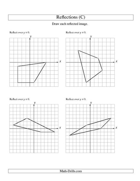 Reflection Geometry Worksheet by Math Reflection Worksheets Reflection Worksheets Math
