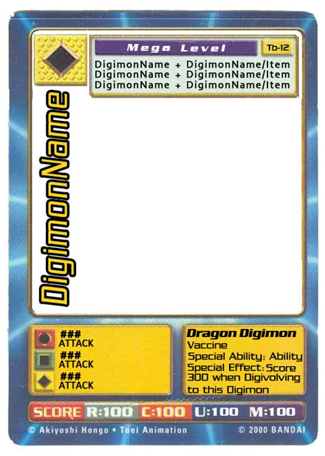 Digimon Digi Battle Ccg Blank Card Psd By Digitaleva On Deviantart Battle Card Template