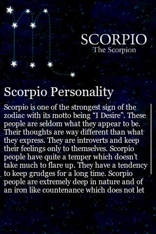 scorpio horoscope sign scorpio traits android apps and