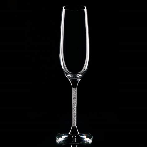 Flute Wine Glasses 2 Pieces Set Goblet Chagne Flute Glass White