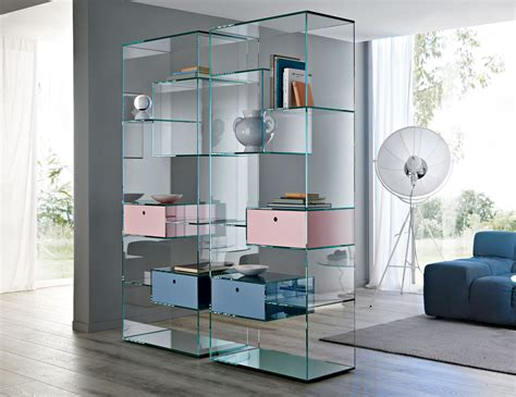 nella vetrina tonelli liber  modern italian glass bookcase