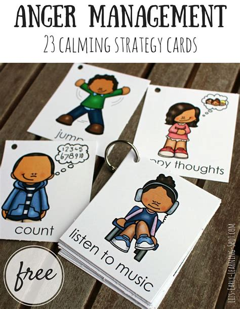 anger management tools for kids anger management 23 free calming strategy cards anger