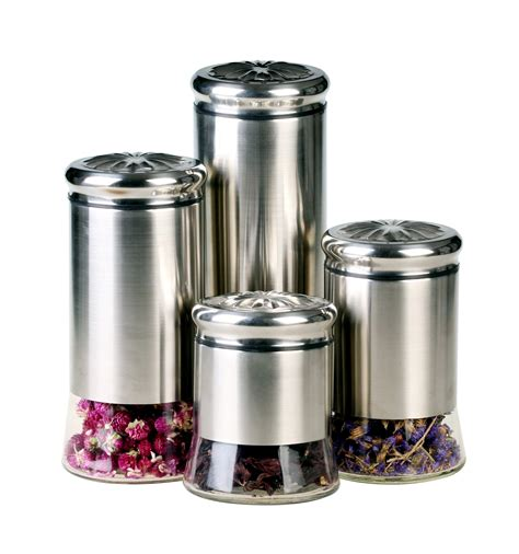 100 tuscan canisters kitchen chrome flour sugar