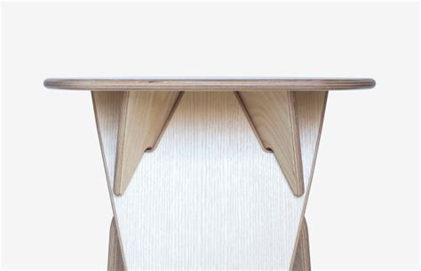 Stool Flat On Both Sides by A Table Stool Made From Flat Plywood Parts Design